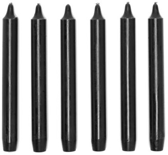 Cire Trudon Set Of Six Madeleine Tapered Candles - Black