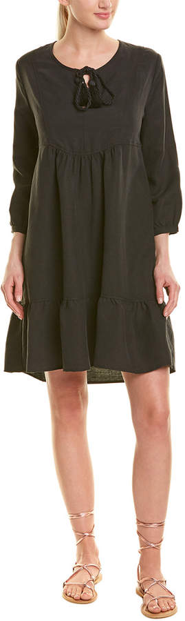 Johnny Was Linen-Blend Shift Dress