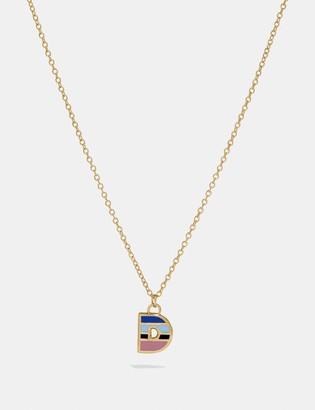 Coach 80'S Retro Alphabet D Charm Necklace