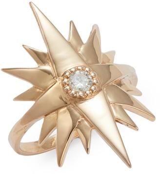 Sara Weinstock Starburst Gretta 18K Rose Gold Diamond Ring