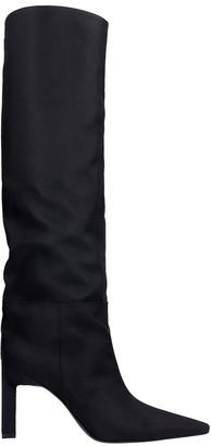 ATTICO High Heels Boots In Black Nylon