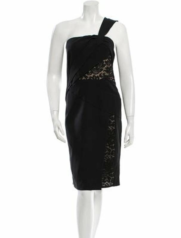 J. Mendel Silk Lace Inset Dress w/ Tags Black