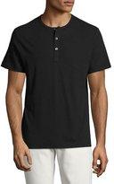 Theory Arlee Aero Jersey Short-Sleeve Henley T-Shirt