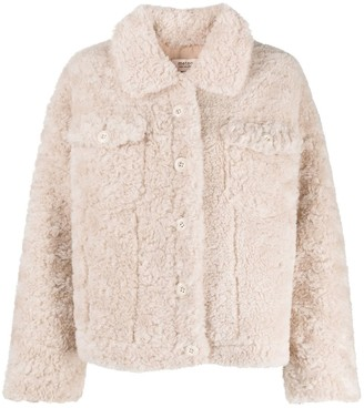 Yves Salomon Meteo Shearling Short Jacket