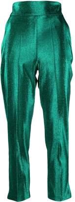Elisabetta Franchi metallic threading cropped trousers