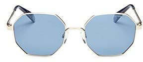 Polaroid Women's Polarized Hexagonal Sunglasses, 53mm