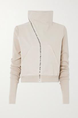 Rick Owens Mountain Asymmetric Cotton-jersey Sweater - Cream