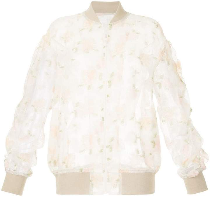 08sircus sheer embroidered bomber jacket