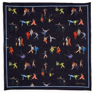 Paul Smith Cotton Dancing People Pocket Square