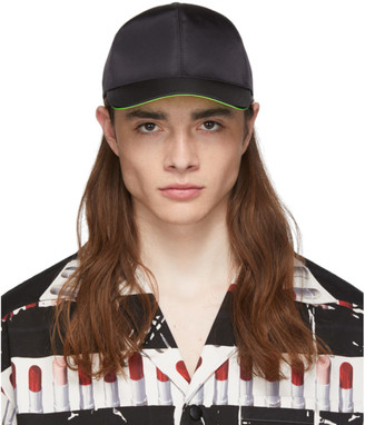 Prada Black and Green Fluo Lining Cap
