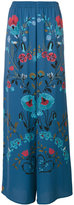 RED Valentino printed wide leg trousers