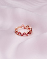 Ted Baker 9ct Rose Gold And Pink Tourmaline Shuffle Ring