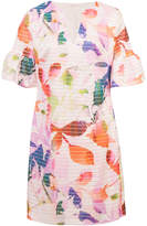 Trina Turk floral-print textured shift dress