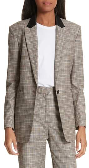 Rag & Bone Ridley Glen Plaid Wool & Cotton Blazer