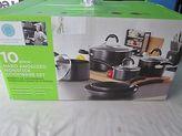 Martha Stewart Collection Hard Anodized 10 Piece Cookware Set