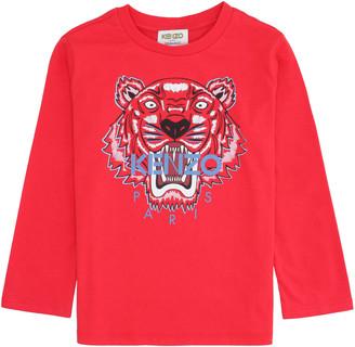 Kenzo Kids Tiger Print Cotton T-shirt