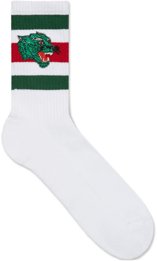 Gucci Socks with panther face patch