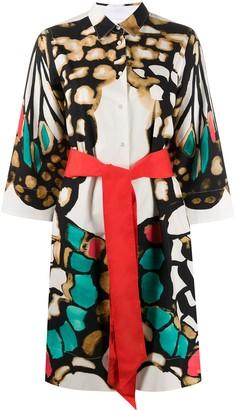 Sara Roka Tonia printed shirt dress