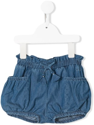 Chloé Kids Drawstring Denim Shorts