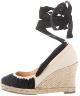 Christian Louboutin Canvas Espadrille Wedges