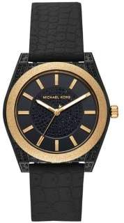 Michael Kors Channing Stainless Steel & Silicone Strap 3-Hand Watch