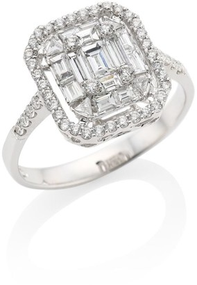 Zydo Mosaic 18K White Gold & Diamond Ring