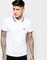 Pretty Green Polo Shirt with Tipping