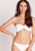 Missguided Twist Bandeau Bikini Top White - Mix & Match