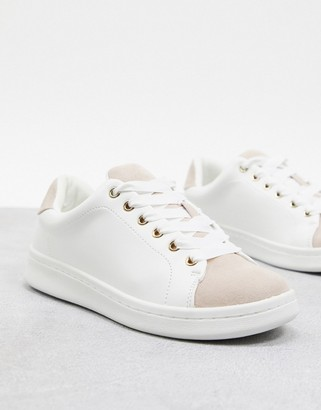 Miss KG lace up trainer in white
