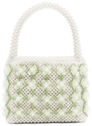 Shrimps Thelma Faux-pearl Embellished Bag - Cream Multi