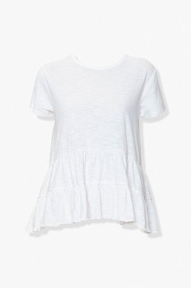 Forever 21 Tiered High-Low Hem Tee