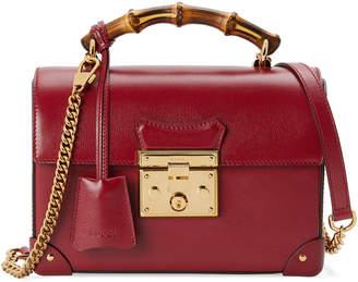 Gucci Padlock Small Leather Bamboo Top-Handle Shoulder Bag