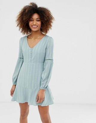 Gilli smock dress with button front detail