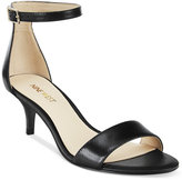 Black Kitten Heel Women's Sandals - ShopStyle