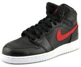 Jordan Air 1 Retro High Youth US 7 Black Basketball Shoe