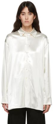 Jil Sander Off-White Wool Satin Nadir Shirt