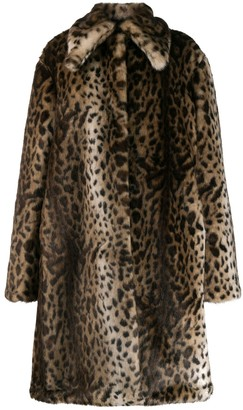 Rokh Leopard Faux-Fur Coat