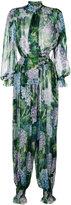 Dolce & Gabbana hydrangea print jumpsuit - women - Silk - 40