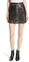 Alice + Olivia Women's Riley Studded Leather Mini Skirt