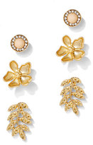 New York & Co. 3-Piece Goldtone Post Earring Set