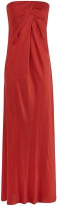 Alberta Ferretti Draped Long Dress