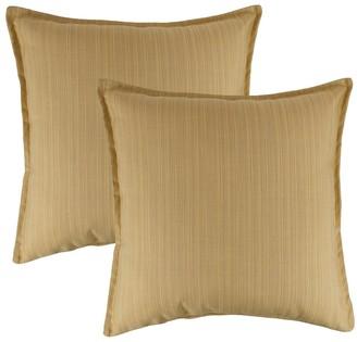 Austin Horn Classics Sunbrella Dupione Cornsilk 20-inch Outdoor Throw Pillow