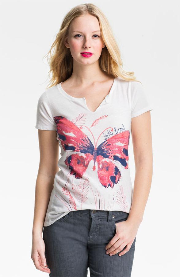 Lucky Brand 'Butterfly' Tee