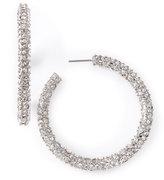 Fragments Rhinestone Hoops, Silver