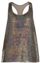 Ashish Racer-back sequin-embellished tank top