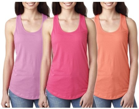 c7db856c59ed6 Clementine Apparel Women's Clementine Ideal Racerback Tank Top (Pack of 3)