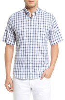 Tailorbyrd Men's Manila Regular Fit Short Sleeve Plaid Sport Shirt