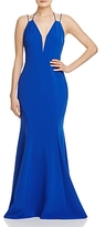 LM Collection Plunge Neck Gown