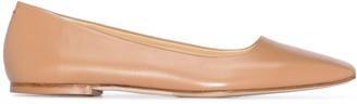 AEYDĒ Gina square-toe ballerina shoes