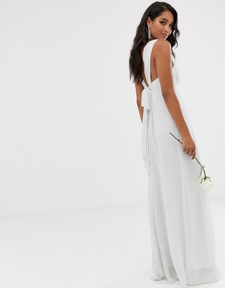 Maids To Measure bridesmaid maxi dress with bow back detail